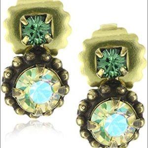 """Sorrelli """"Water Lily"""" Simple Crystal Drop Earrings"""